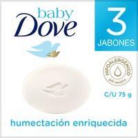 JABÓN DOVE BABY HUMECTACIÓN ENRIQUECIDA X 3 UND