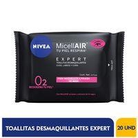 TOALLITAS DESMAQUILLANTES NIVEA MICELLAIR EXPERT X 20UND
