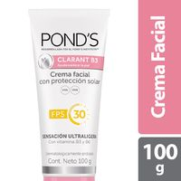CREMA FACIAL PONDS CLARANT B3 PROTECCION SOLAR FPS 30 X 100G