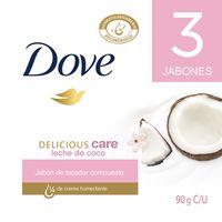 JABON DOVE DELICIOUS CARE LECHE DE COCO X 3UND X 90G