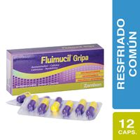 FLUIMUCIL GRIPA CAJA X 12 CAPSULAS