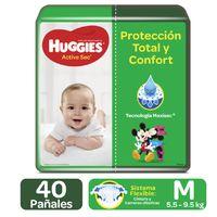 PAÑALES HUGGIES ACTIVE SEC ETAPA 2 M X 40UND