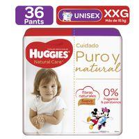 PANTS HUGGIES NATURAL CARE TALLA XXG X 36UND