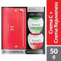 OFERTA CREMA PONDS C + CREMA REJUVENESS 50G + BILLETERA MH