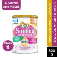 FORMULA INFANTIL SIMILAC TOTAL COMFORT ETAPA 1 0-12MESES X 820G