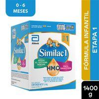 FORMULA INFANTIL SIMILAC PROSENSITIVE ETAPA 1 0-6MESES X 1400G