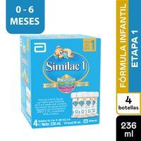 FORMULA INFANTIL SIMILAC PROSENSITIVE ETAPA 1 0-6MESES 59ML X 4UND